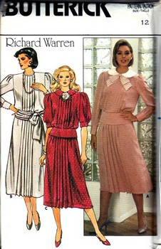 Butterick 6839 Sz 10 Richard Warren Top SkirtPattern UNCUT