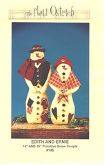 Edith and Ernie Primitive Snow Couple Pattern New
