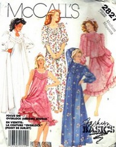 McCalls 2827 Robe Jacket Nightgown Pattern UNCUT