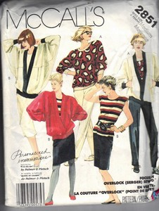 McCall's 2851 Palmer Pletsch Separates Pattern UNCUT