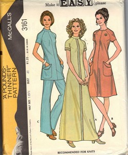 McCalls 3161 Vintage1972 Dress Pattern UNCUT