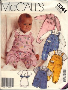 McCall's 3341 Infant Overall Top Toy Sewing Pattern UNCUT