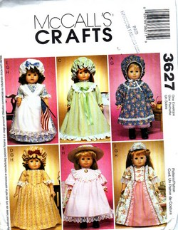 McCalls 3627 American Girl 18 Inch Doll Clothes Pattern