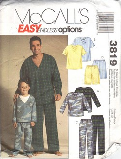 McCalls 3819 Men Boys Pajama Pattern UNCUT