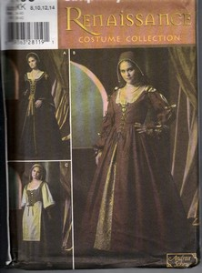 Simplicity 4488 KK Renaissance Costume Dress Pattern UNCUT
