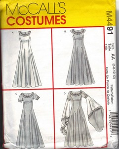 McCalls 4491 AA Medieval Costume Pattern UNCUT