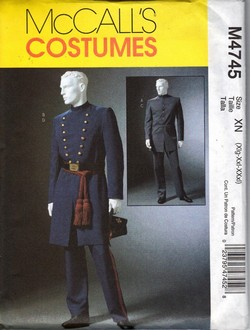 McCalls 4745 Pattern Civil War Uniform Costume XN UNCUT