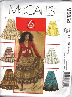 McCalls 5054 Full Skirt Pattern UNCUT