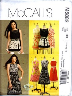 McCalls 5882 DD Modern Tunic Dress Pattern UNCUT