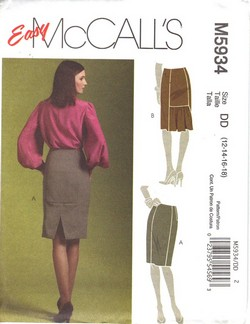 McCalls 5934 DD Large Pencil Skirt Pattern UNCUT