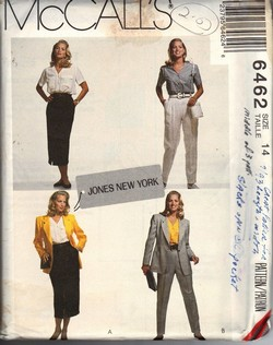 McCalls 6462 Size 14 Jones Separates Pattern