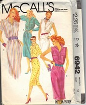 McCalls 6942 Classic Shirtwaist Dress Pattern UNCUT