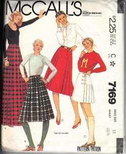 McCalls 7169 Wrap Skirt Pattern