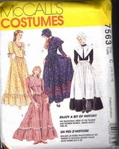 McCalls 7563 Old West Woman's Costume Pattern UNCUT