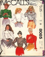 McCalls 8085 Victorian Look Blouse Pattern UNCUT