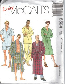 McCalls 8524 Y Nightwear Pattern UNCUT