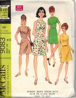 McCalls 9083 Vintage Sheath Dress Pattern UNCUT