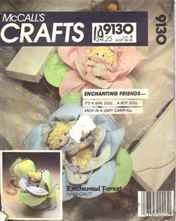 McCalls 9130 Enchanted Forest Baby Doll Pattern UNCUT