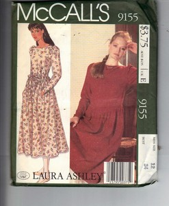 21e4e8de92d3 McCalls 9155 Laura Ashley Dress Pattern UNCUT [9155] - $25.00 : The ...