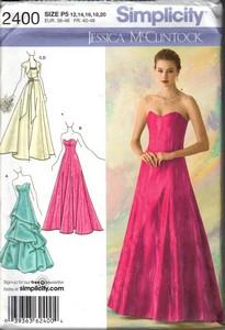 Simplicity 2400 Jessica Mcclintock Evening Dress Pattern