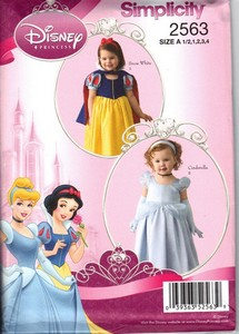 Simplicity 2563 Disney Cindrella Snow White Costume Pattern