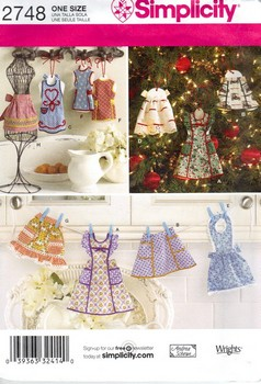 Simplicity 2748 Apron Ornament Pattern NEW