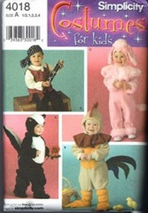 Simplicity 4090 Toddler Costume Pattern Fairy Ladybug UNCUT