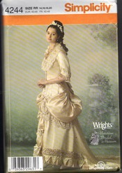 Simplicity 4244 Victorian Bridal Gown Pattern UNCUT
