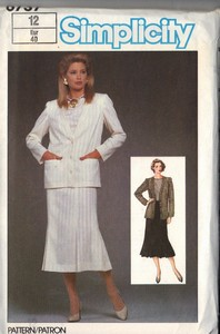 Simplicity 6737 Top Skirt Jacket Pattern UNCUT