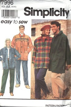 Simplicity 7996 Size AA Easy Coordinate Pattern UNCUT