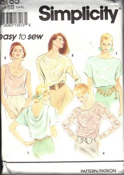 Simplicity 8185 Size BB Multi View Top Pattern UNCUT
