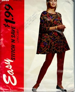 McCalls stitch 'n save 6093 Tunic Leggings Pattern UNCUT