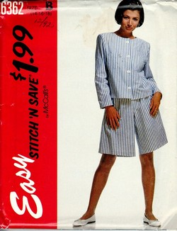 McCalls stitch 'n save 6362 Jackit Split Skirt Pattern UNCUT