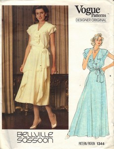 Vogue 1344 Bellville Sassoon Dress Pattern Formal