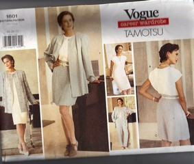 Vogue 1601 Tamotsu Wardrobe Pattern XL UNCUT