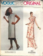 Vogue 1627 Nina Ricci Dress Pattern UNCUT