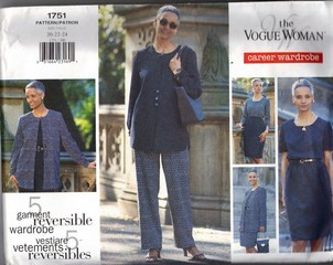Vogue 1751 Career Wardrobe Pattern UNCUT 20-22-24