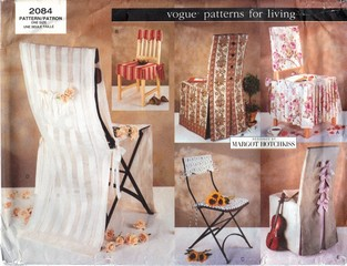 Vogue 2084 Margot Hotchkiss Chair Covers Pattern UNCUT