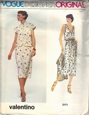 Vogue 2171 Valentino Dress Pattern UNCUT