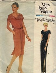 Vogue 2333 Diane Von Furstenberg Dress Pattern