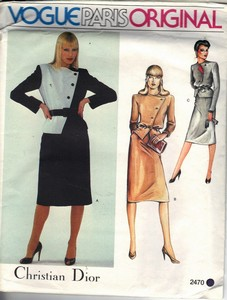 Vogue 2470 Christian Dior Suit Sewing Pattern