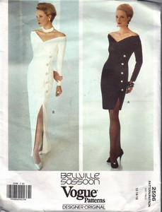 Vogue 2598 Belleville Sassoon Formal Cocktail Dress Pattern
