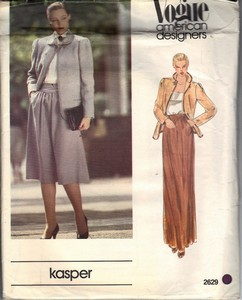 Vogue 2629 Kasper Jacket and Suit Pattern UNCUT