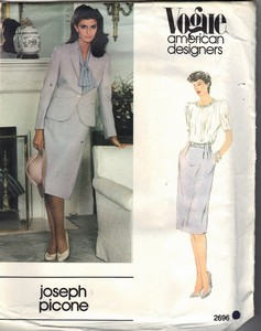 Vogue 2696 Joseph Picone Skirt Suit Pattern