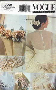 Vogue 7009 Bridal Accents Pattern ROSES UNCUT