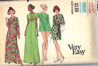Vogue 7836 Caftan Cover-up Pattern UNCUT