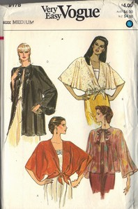 Vogue 8178 Evening Cover-up Pattern UNCUT