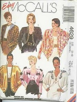 McCalls 4629 Dress Jacket Pattern