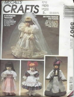 McCalls 5907 Doll Clothes Pattern UNCUT