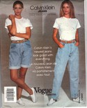 Vogue 2851 Calvin Klein Jeans Pattern UNCUT Medium